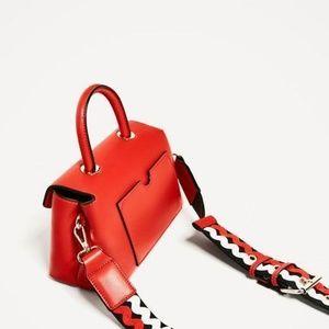 Zara Bags - Zara Red Mini Crossbody Bag